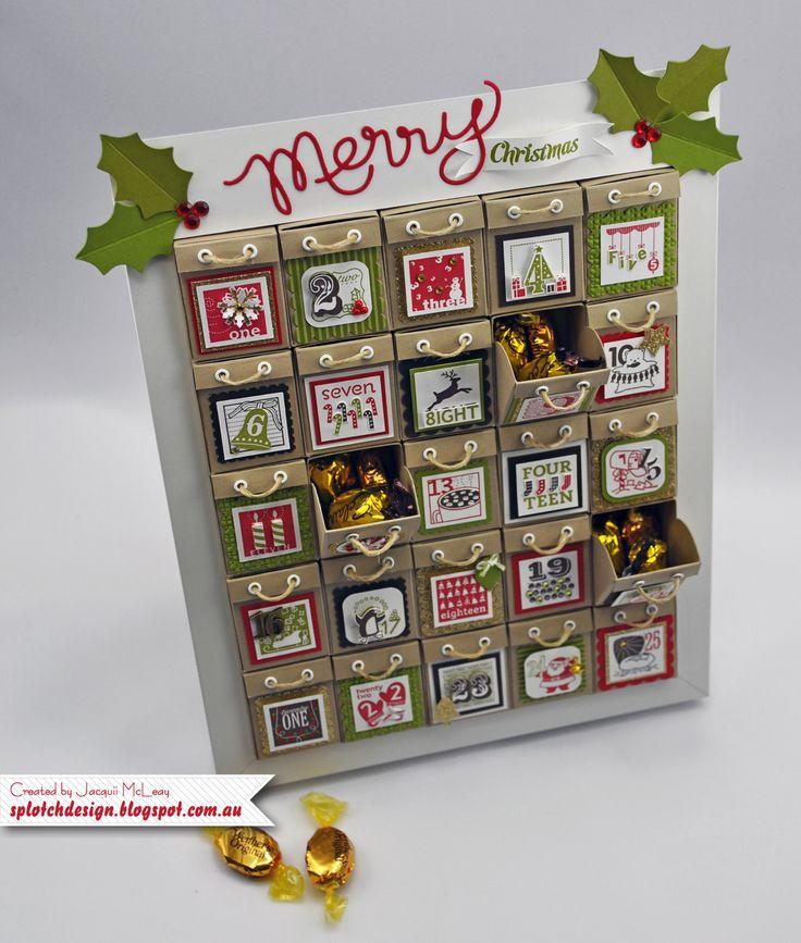 Calendar Design Tutorial : Splotch design jacquii mcleay stampin up christmas