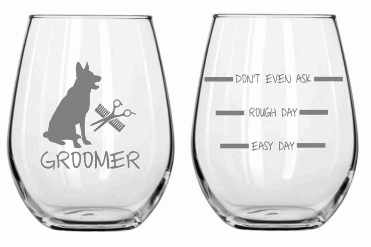 Dog Groomer Glass Set of 2 Choose From by WulfCreekDesigns on Etsy, $29.95