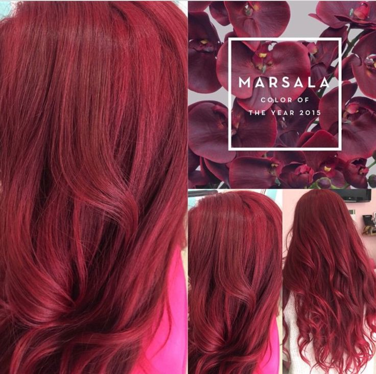 marsala hair haircolor 2015 - Coloration Cheveux Framboise