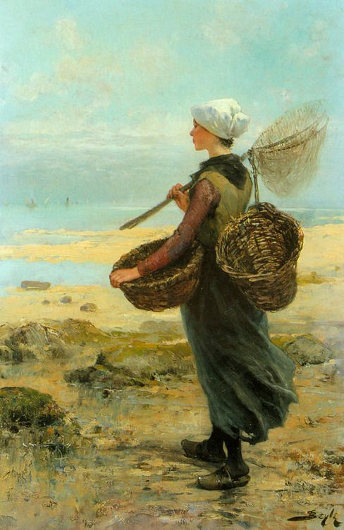 The Young Fisherwoman - Pierre-Marie Beyle