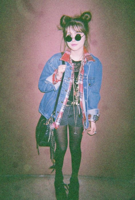 "Mary MacDonald, taken by Marlene McKinnon, 1979.  ""Mary, you're an actual fashion icon!"" ""Yeah, yeah, Marls.""  ""No, come on, stand still, I'm getting a picture of this. Even using this silly muggle camera."""
