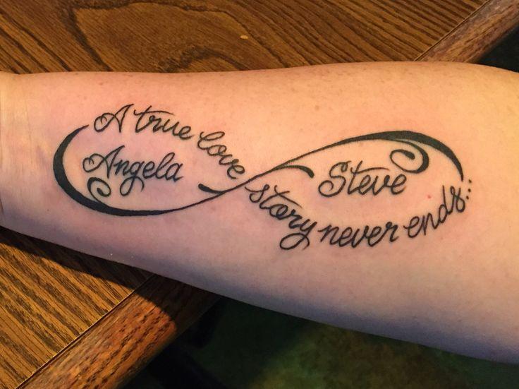 Infinity marriage tattoo