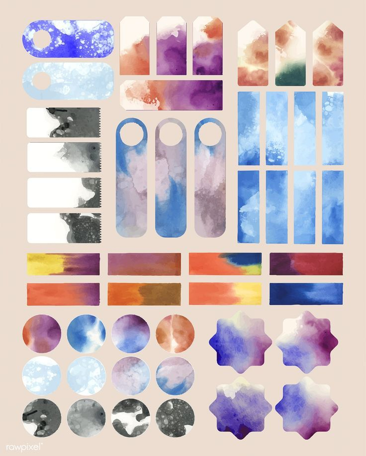 Set Of Watercolor Backgrounds Vector Free Image By Rawpixel Com