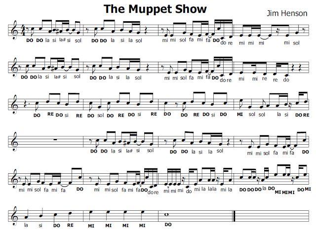 Musica e spartiti gratis per flauto dolce: The Muppets Show