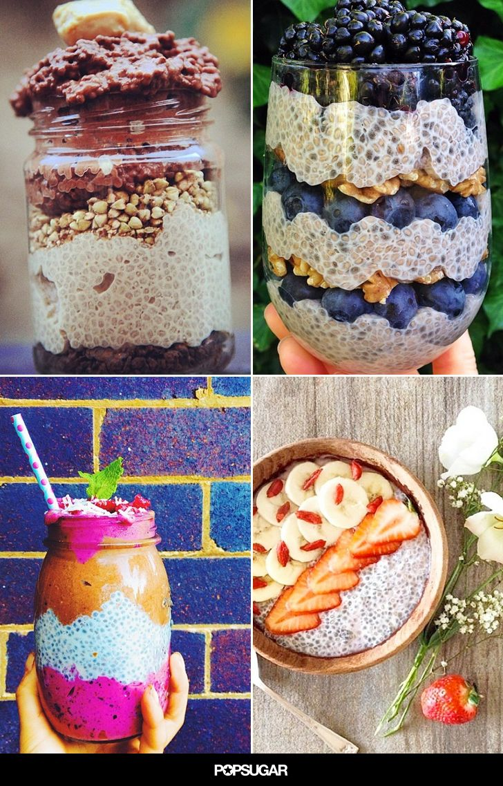 14 Chia Seed Pudding Recipes to Beat Your Breakfast Rut via @POPSUGARFitness