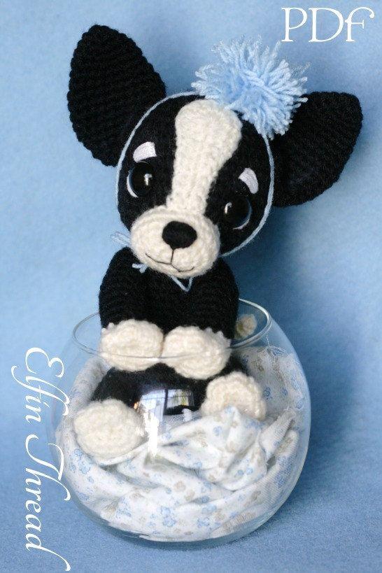 Elfin Thread - Chaco, the Chihuahua Puppy Amigurumi PDF pattern ( Crochet Chihuahua Dog pattern)