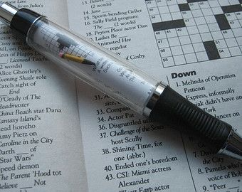 Crossword puzzle collana  1  anniversario regalo per di Papermelon