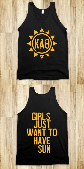 Kappa Alpha Theta Frat Tanks - Sorority Shirts. CLICK HERE to purchase :) Buy 1 or 100!