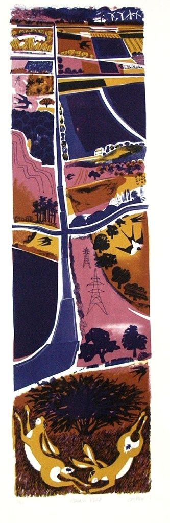 Roman Road-Lithograph, lithography, lithographic, printmaking, limited edition, limited, edition, print, ltd, original, prints, editions, cu...