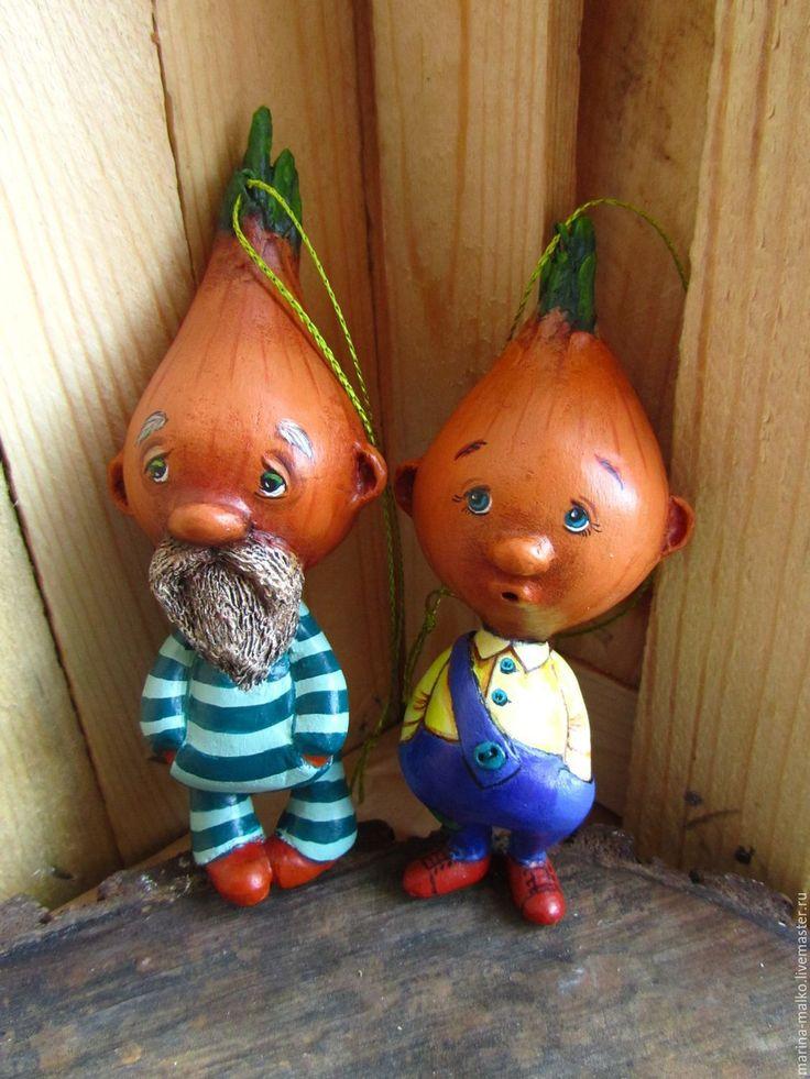 Купить Ёлочная игрушка Чиполлоне. - рыжий, лук, чиполлино, чиполлоне, сказочный персонаж, елочная игрушка