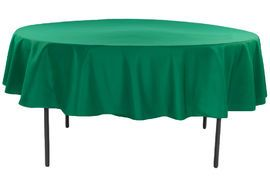 """Polyester 90"""" Round Tablecloth - Emerald Green Eight dollars each for food tables to need it"""