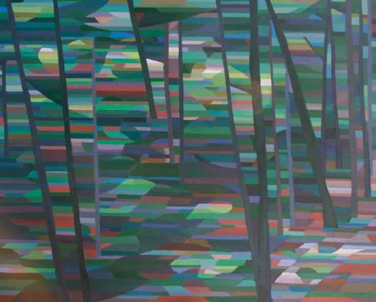 Portage into Grace Lake  Oil on Canvas 48 X 60