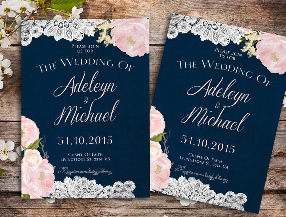 Navy blue blush pink Wedding Invitation printable, country wedding, floral wedding, watercolor wedding invitation, barn wedding invitation, lace wedding invitation Printable Invitation: To print at home, locally or from a website and/or to send it by email to upload it to your website (such as blog, facebook, and others) or as an announcement, and many more. *´¨) ¸.•´¸.•*´¨) ¸.•*¨) (¸.•´ (¸.•` ¤ How this Works¸.•´¸.•*¨) ¸.•*¨) (¸.•´ (¸.•´ .•´ ¸¸.•¨¯`•. 1. Choose the size of ...