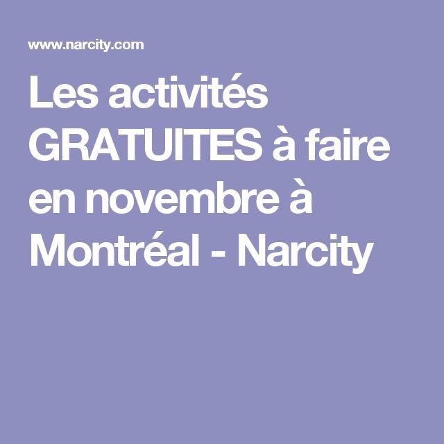 Les activités GRATUITES à faire en novembre à Montréal - Narcity