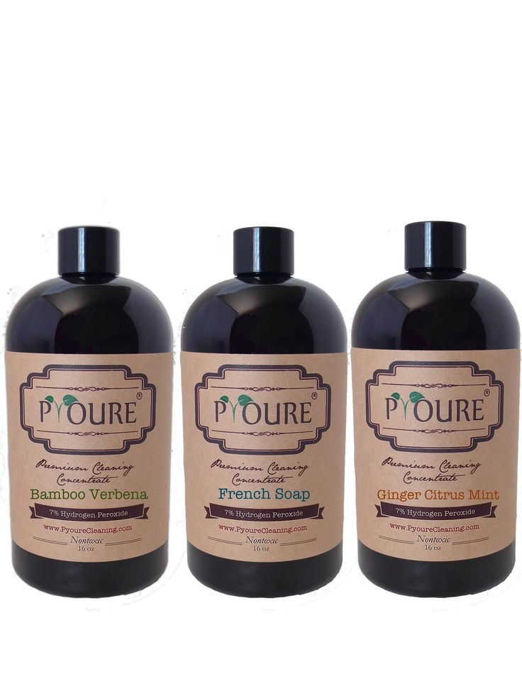 3 Piece 7% Hydrogen Peroxide Cleaner Concentrate Combo Pack - Makes 1.9 Gallons (240 fl Ounces)  #springcleaning #greencleaning #cleaningtips #ilovepyoure #organizing #hydrogenperoxide #cleaningtime #neatfreak #nontoxiccleaning #declutter Awesome Hydrogen Peroxide Cleaners and More!