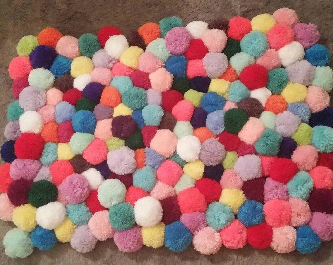 Heart Rug Pink Rug Pom Pom Carpet Soft Area Rug Kids