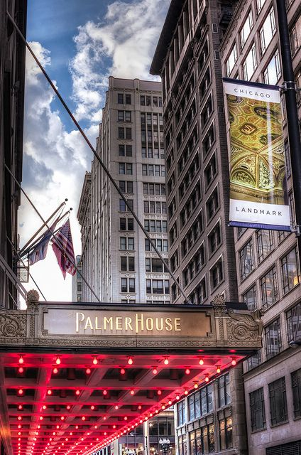 The famous Palmer House in downtown Chicago Illinois.