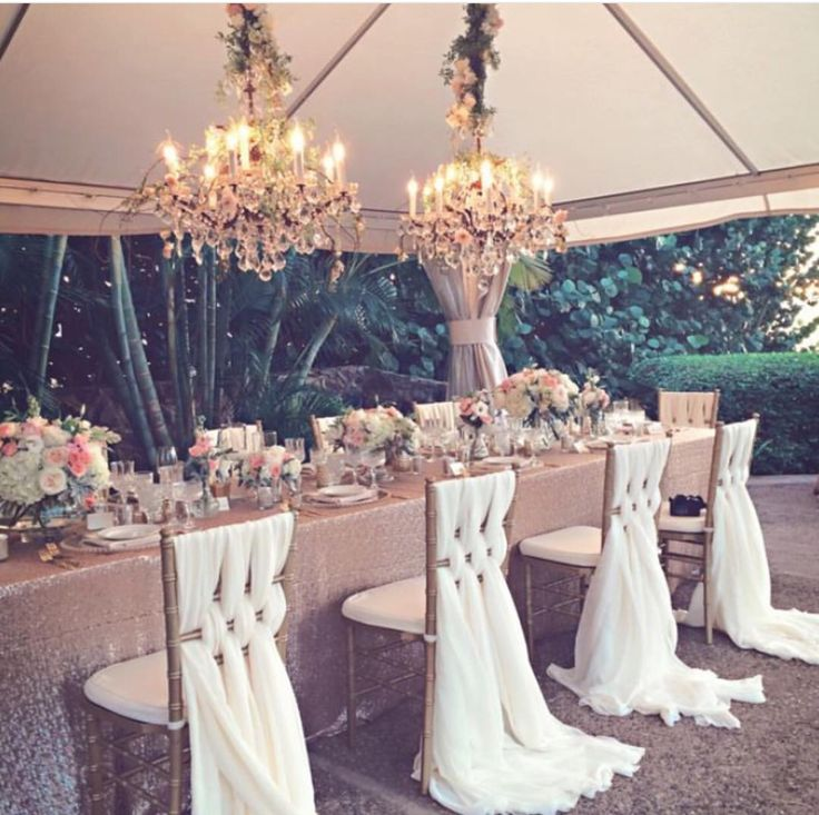 Perfect chair settings for a nice light feel on your big day