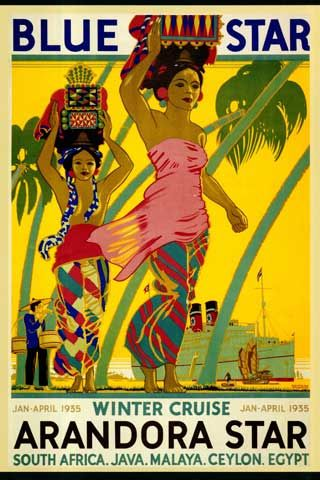 #Vintage #Travel #Cruise #Poster http://www.travelboldly.com/2013/01/thirteen-places-to-travel-to-in-2013-my.html