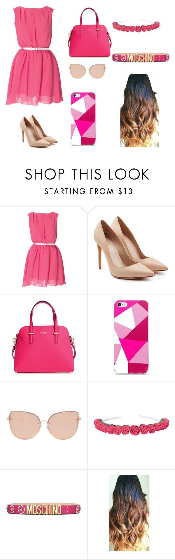 """Fashion..."" by daniuskaloreto on Polyvore featuring moda, Alexander McQueen, Kate Spade, Topshop y Moschino"
