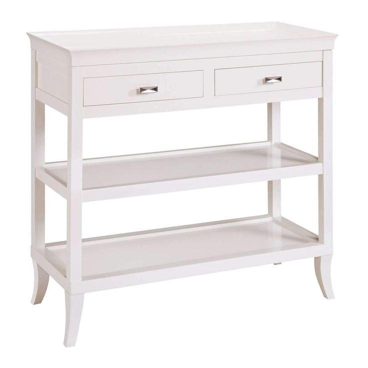 Tamara Hall Table In White by Sterling