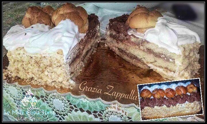 TRONCHETTO SAINT-HONORÉ RICETTA DI: GRAZIA ZAPPULLA Ingredienti: Per 6 persone 1 disco di pan di Spagna 350 g di Pan di Spagna sbriciolato 500 ml