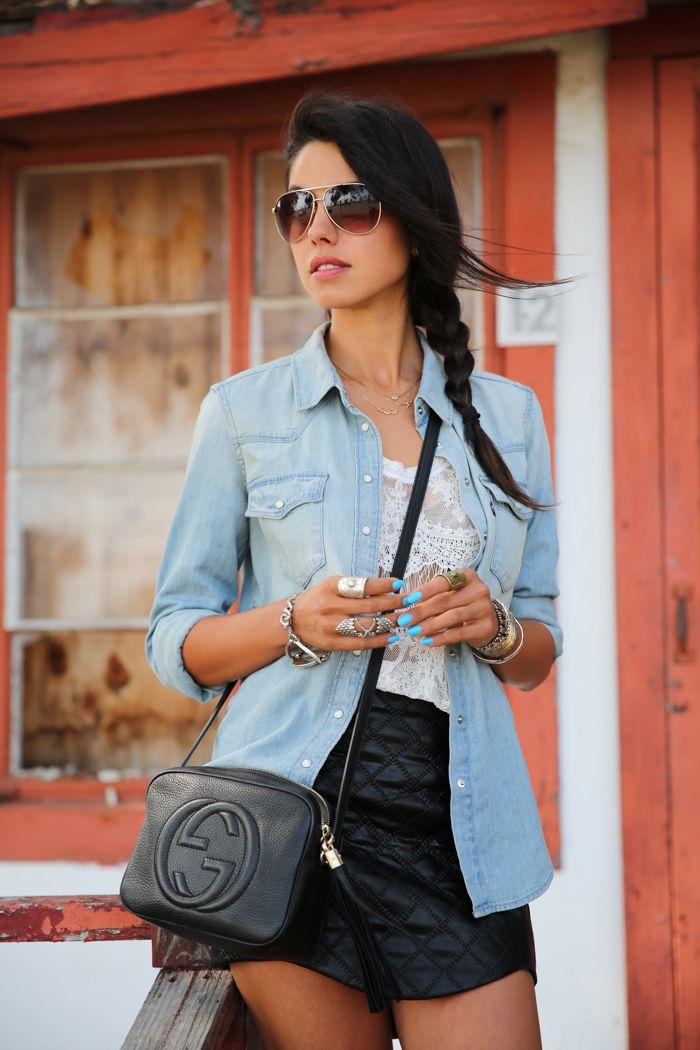 2c9550d49f2a Gucci Mini Soho Chain Strap Cross Body Bag In Black Lyst