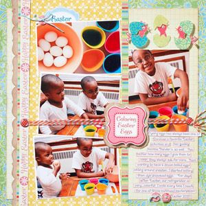 Colorful Egg Decorating PageScrapbook Layouts, Scrapbook Pages Layout, Colors Eggs, Easter Scrapbook, Holiday Scrapbook, Egg Decorating, Easter Eggs, Scrapbook Pageslayout, Eggs Decor