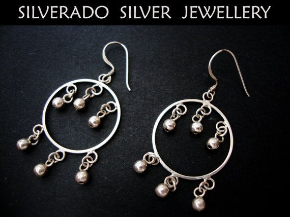 Sterling Silver 925 Round Chandelier by SilveradoJewellery on Etsy, €19.00