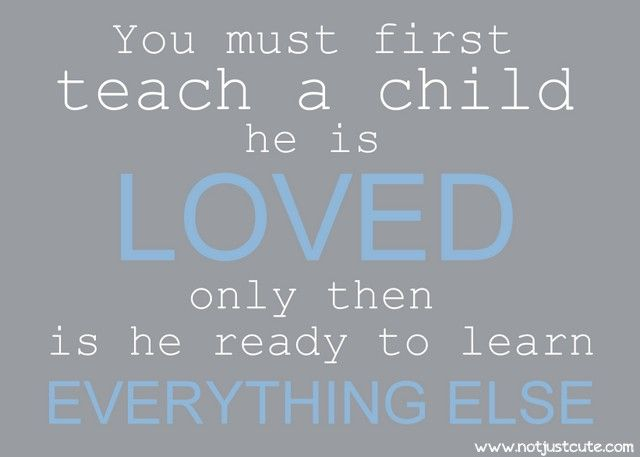 """I asked an 18 yr old patient why he was such a good kid, how he could carry on a convo with another adult, what did you parents do right? He said without hesitation, """"I have always felt LOVED!"""" Quite possibly the most EYE-OPENING thing I have ever heard! So simple"""