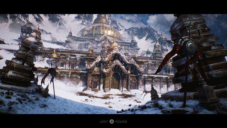 Lost Vimāna Temple (Ancient Civilizations: Lost & Found), Floyd Billingy on ArtStation at https://www.artstation.com/artwork/PYkOZ