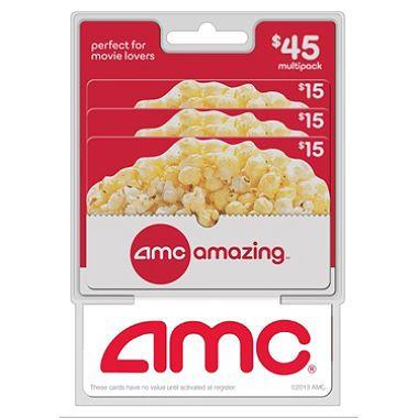 AMC Movie Theatres Gift Cards - 3 x $15
