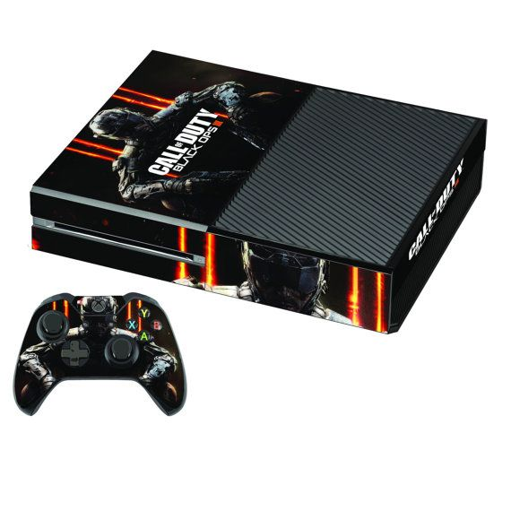 Xbox one Console Sticker Skin + 2 Free wireless Controller Decals - Call of Duty Black ops 3
