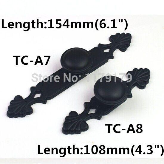 Черный комод тянет ручки античный черный кухонный шкаф ручки ящика ручка современный простой мебельные ручки ручки с задней панели