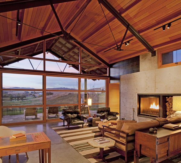 This Project by Lake Flato Architects is of an original ranch named LC in Montana. Built to take advantage of the wonderful summer climate but at the same time to protect from the cold harsh winters.