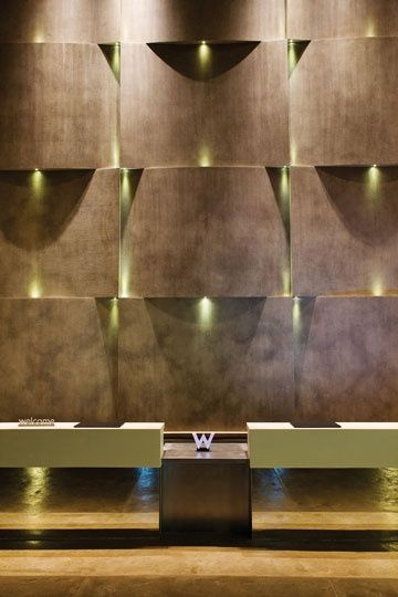 103 best walls images on pinterest architecture for Hotel wall design