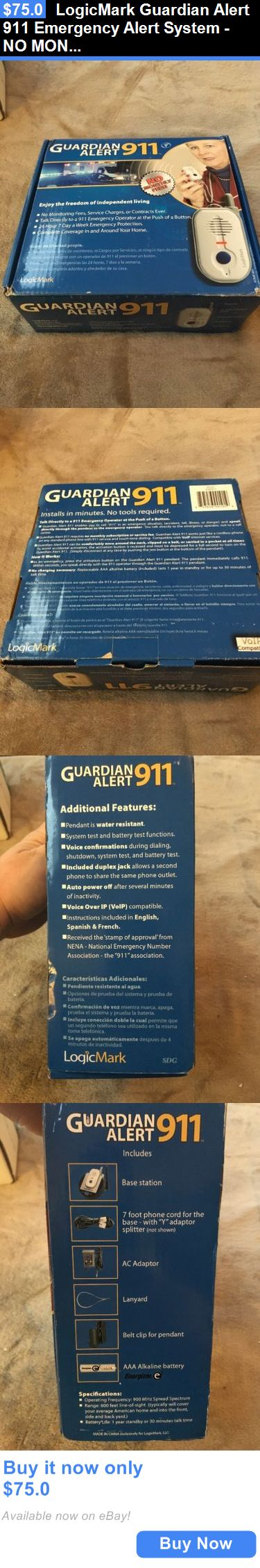 Emergency Alert Systems: Logicmark Guardian Alert 911 Emergency Alert System - No Monthly Fees , New, Fre BUY IT NOW ONLY: $75.0