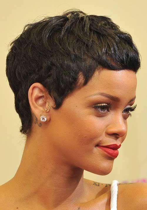 15 Rihanna Pixie Hairstyles: #13. Pixie Cut Hair