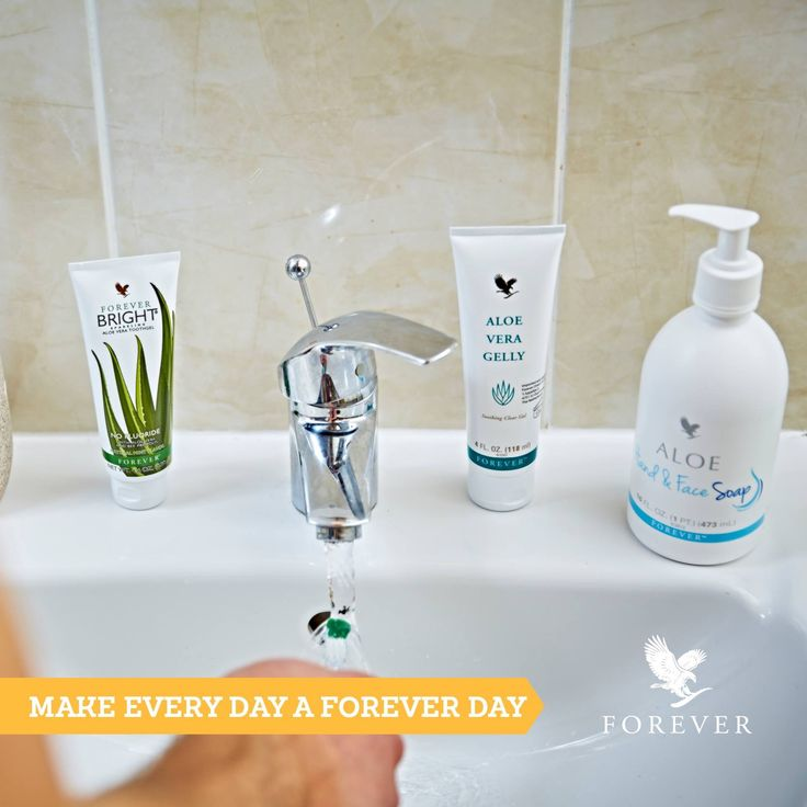 Three bathroom essentials from Forever Living. Forever Bright fluoride-free…
