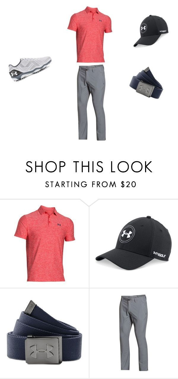 """""""Men's Golf"""" by elizabeth-trausch ❤ liked on Polyvore featuring Under Armour, men's fashion and menswear"""
