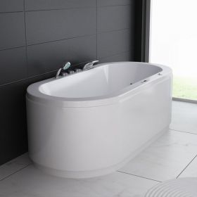 Baignoire balnéo ovale, 190x90 cm, Orpesa