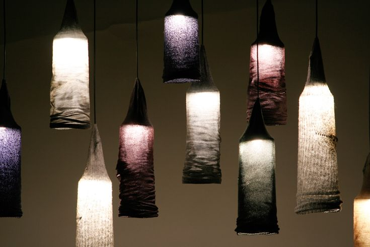 Pendant light from socks