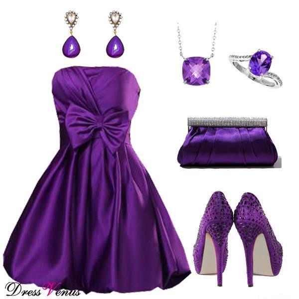 Vestido roxo escuro!