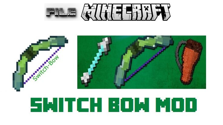 The Switch Bow Mod will provide you with a bow you need to truly maximize your archery potential. #Minecraft