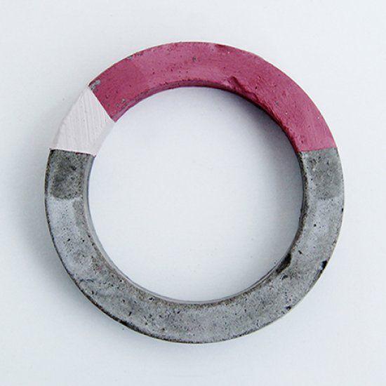 DIY Colour Block Concrete Bracelet