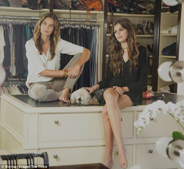 The best wardrobe in town: Cindy recently revealed that she has an 'archival closet' of un...
