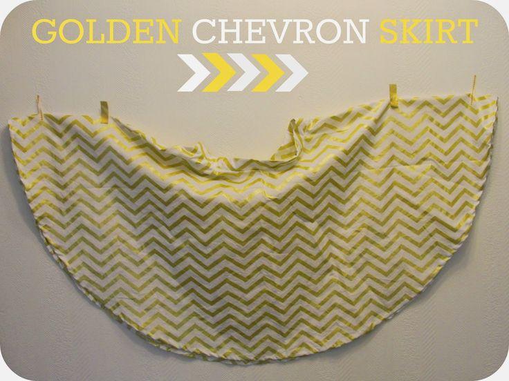 De gouden chevron rok