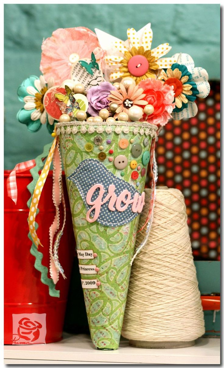 how to make may day baskets out of paper