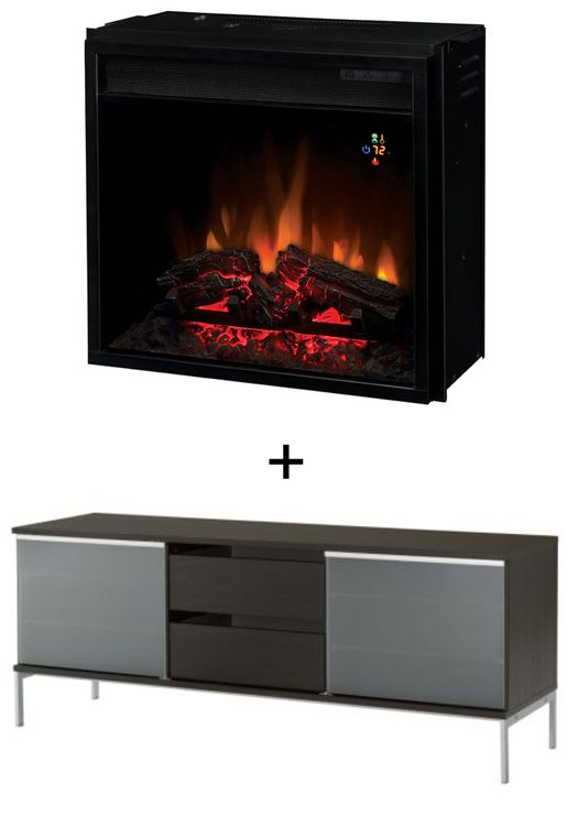Ikea Entertainment Center Meets Electric Fireplace Ikea
