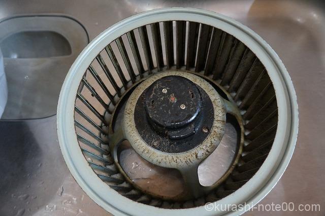 ドロドロな換気扇 掃除 換気扇 お掃除